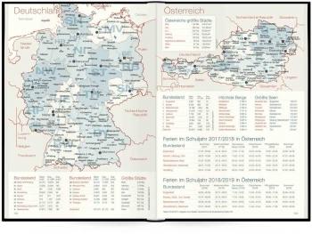 Deutschland- und Österreichkarte: Tageskalender »Organizer Day by Day«