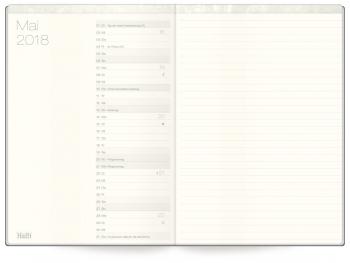 Monatsvorschau: Kalender »Wochen-Notiz-Timer«