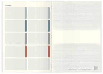 Heraustrennbare Zettel: Notizbuch mit karierten und Blanko-Seiten