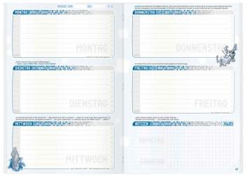 Kalendarium: Übersichtliches Aufgabenheft »Häfft pur«