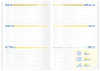 Kalendarium: Schulstuff Aufgabenheft in A5 oder A6