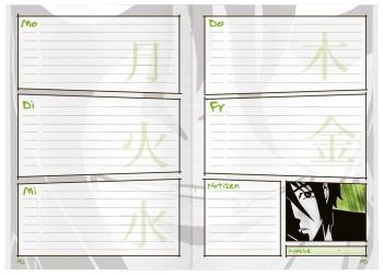 Kalendarium Manga/Vampire: Aufgabenheft Schulstuff Thema