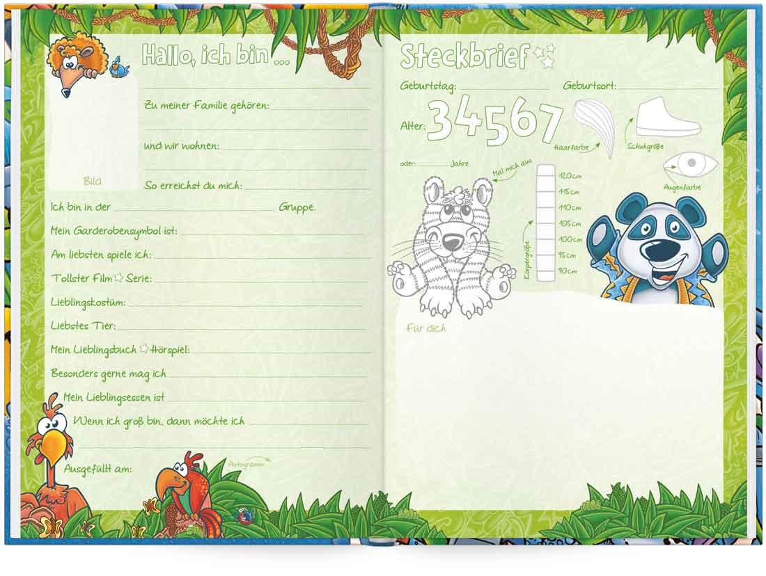 Das Freundebuch für den Kindergarten mit Ausmalbildern