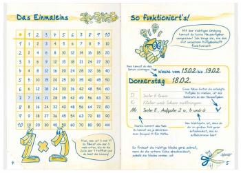 Einmaleins: Aufgabenheft für die Grundschule in A6