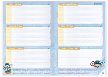 Kalendarium: Hausaufgabenheft für die Grundschule 2017/18