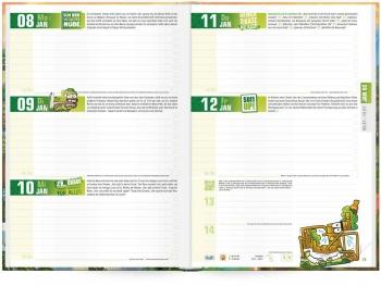 Kalendarium: Das »Häfft Deluxe« Hausaufgabenheft