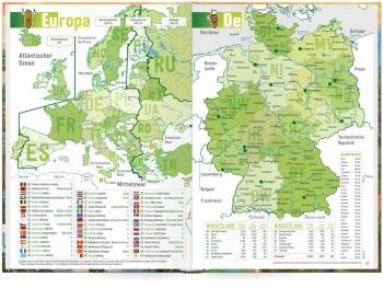 Europa- & Deutschlandkarte: Das »Häfft Deluxe« Hausaufgabenheft