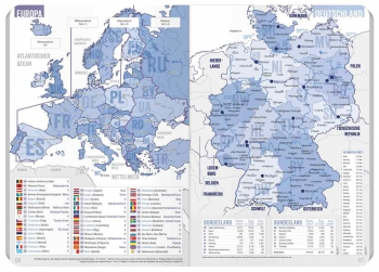 Europa- & Deutschlandkarte: »Häfft-Planer Pocket« Schülerkalender 2017/18