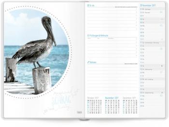 Monatsvorschaltseite des Häfft-Timers, Kalender 2017/2018