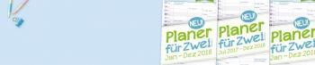 Wandkalender »Planer für Zwei« mit 3 Spalten für 2017/18