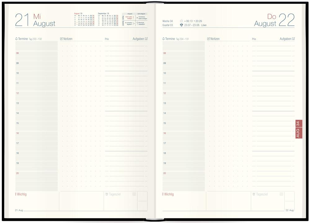 Der übersichtliche Tageskalender 2019 mit vielen Zusatzseiten!