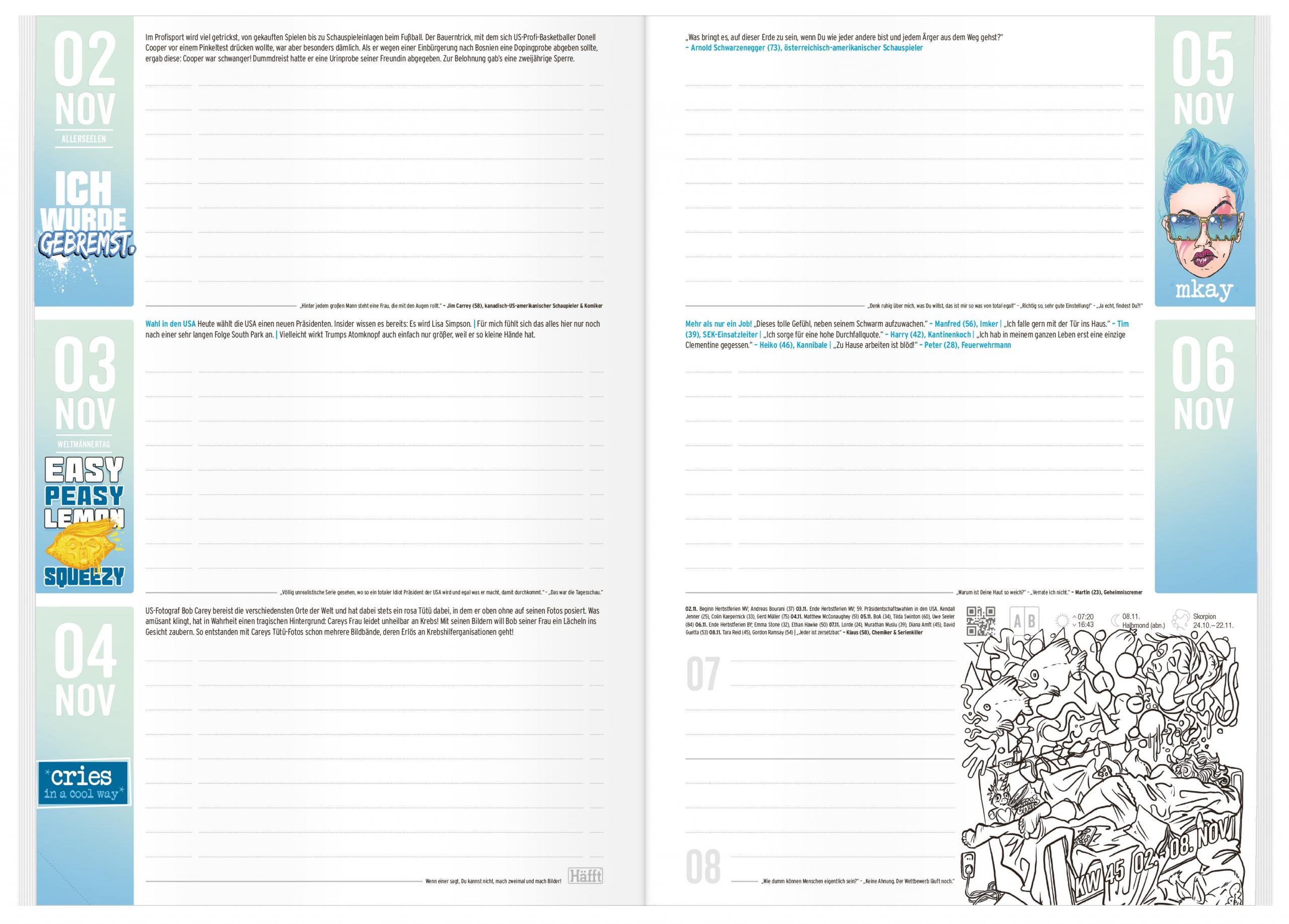 Sch/ülerplaner mit spannendem Wissen Hausaufgabenheft Nope H/äfft PLANER A5 2020//2021 Sch/ülerkalender lustigen Spr/üchen und coolen Stickern! Sch/üler-Tagebuch