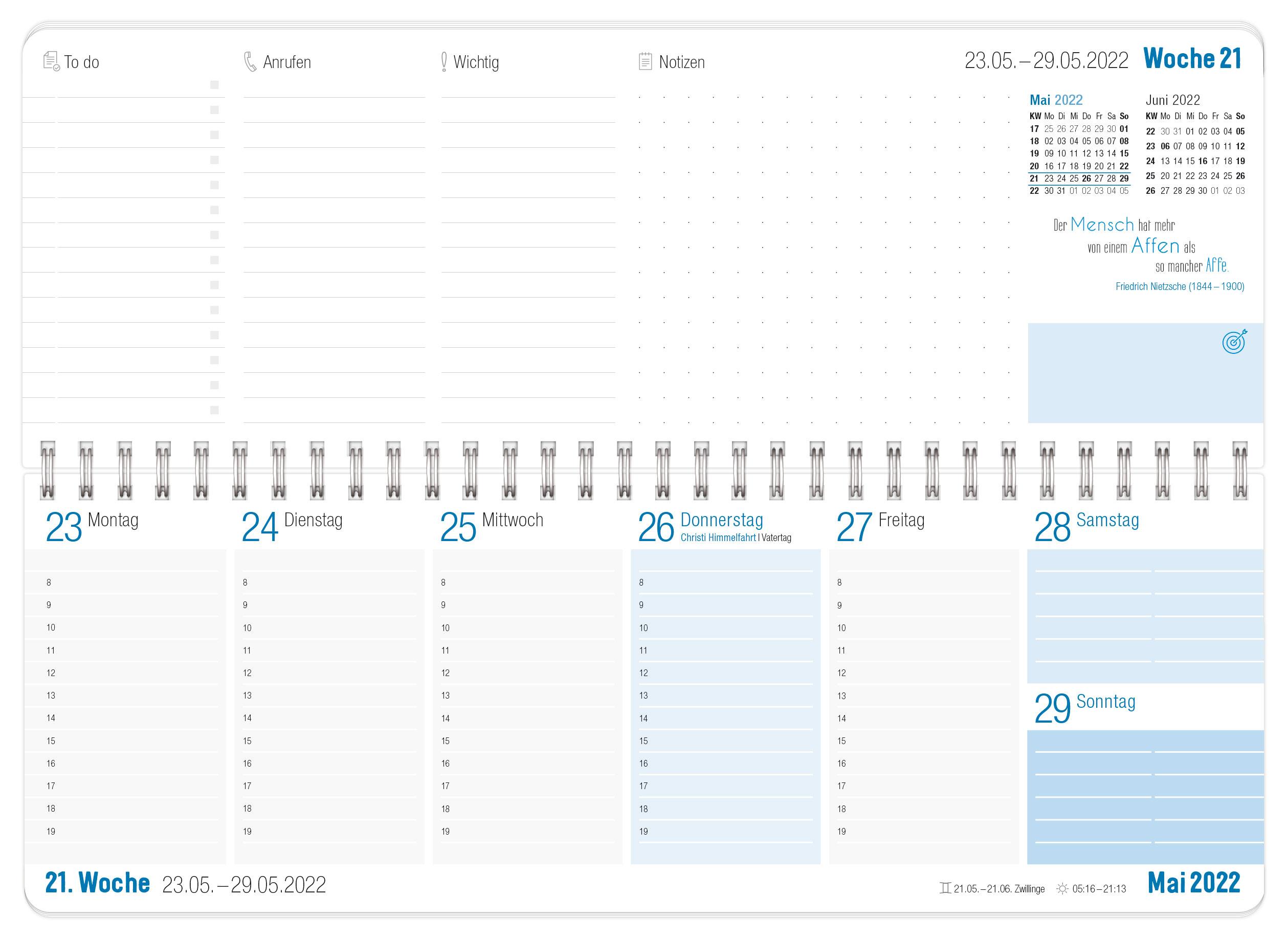 Tischkalender 2022 blau_Innenseite 2