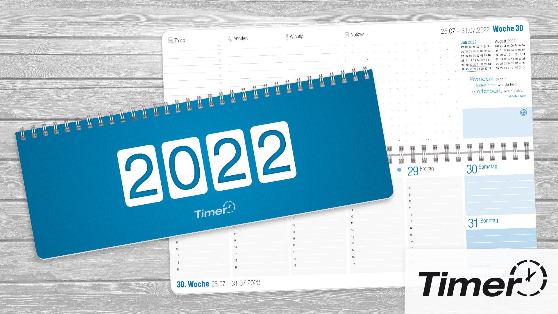 Tischkalender_Blau 2021 2022