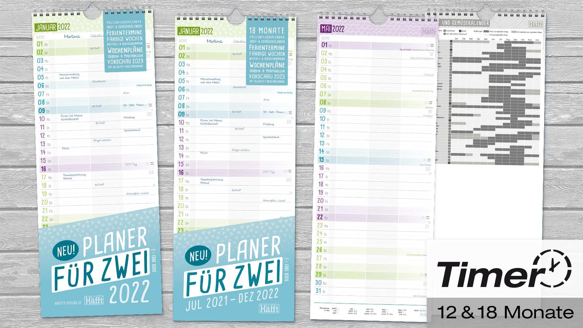 Wandkalender für Zwei 2022