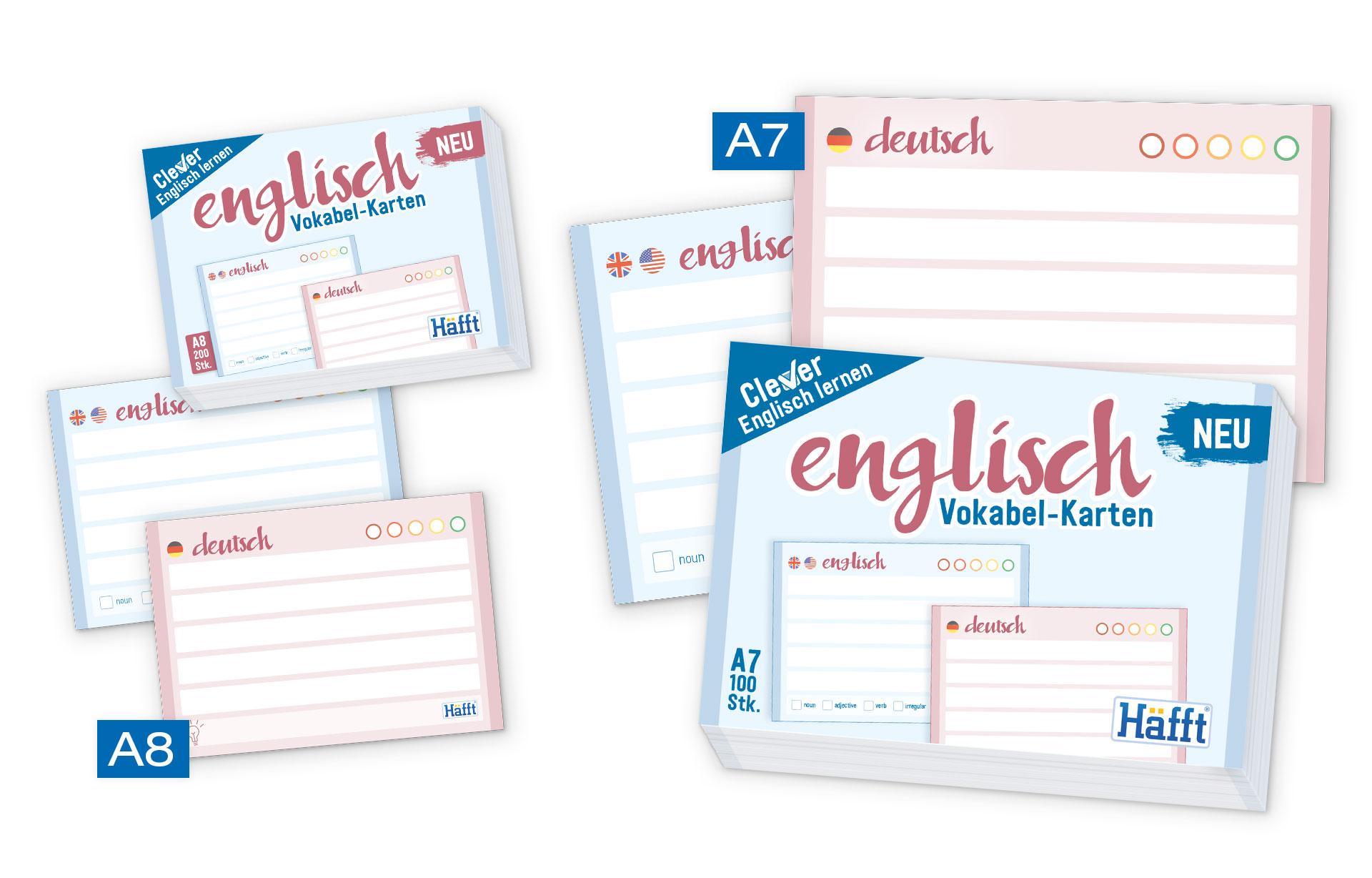 Vokabelkarten Englisch_Größen