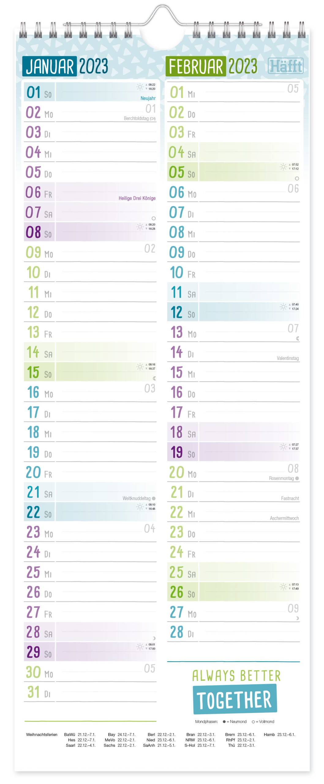Planer für 2 2021 2022 Wandkalender_Innenseite 6