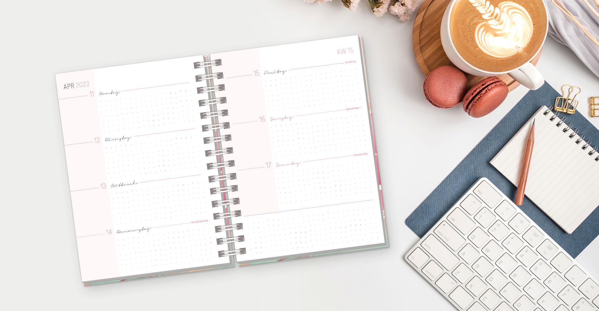 Lieblingstimer 2022 - Terminkalender Ringbuch