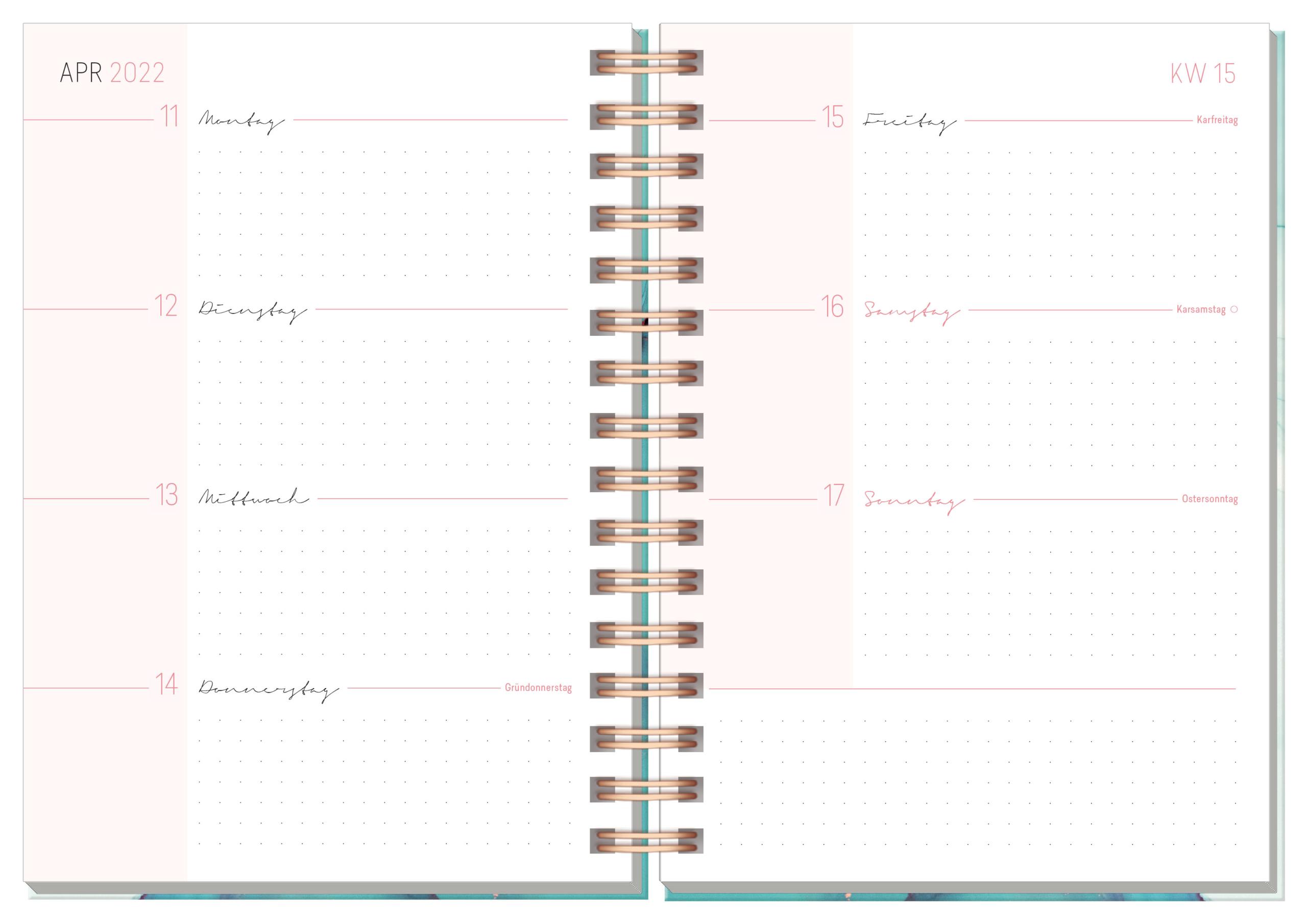 Lieblingstimer 2022 Spiralkalender - Inhaltsseite 2
