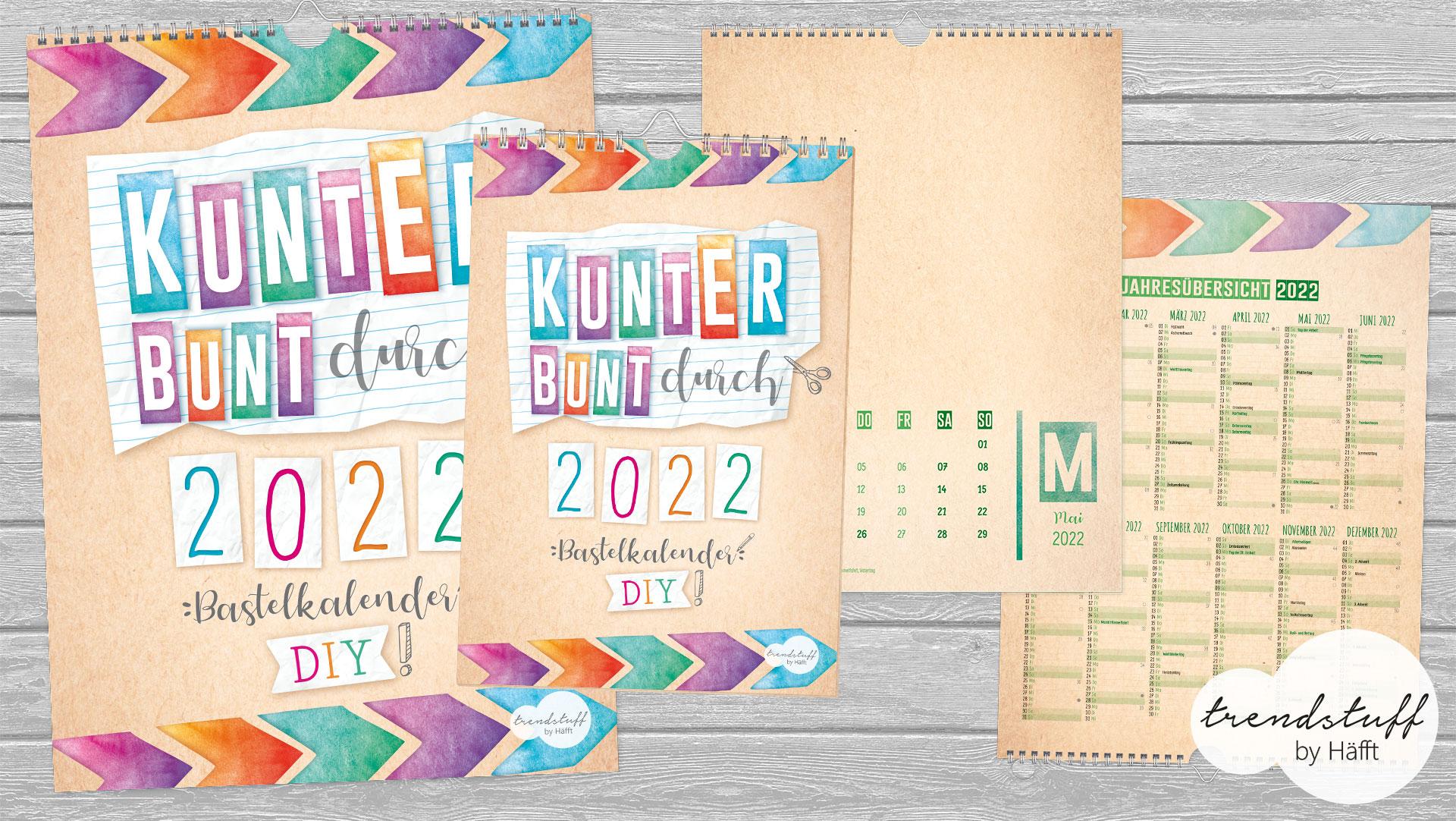 Bastelkalender vom Häfft Verlag in A5