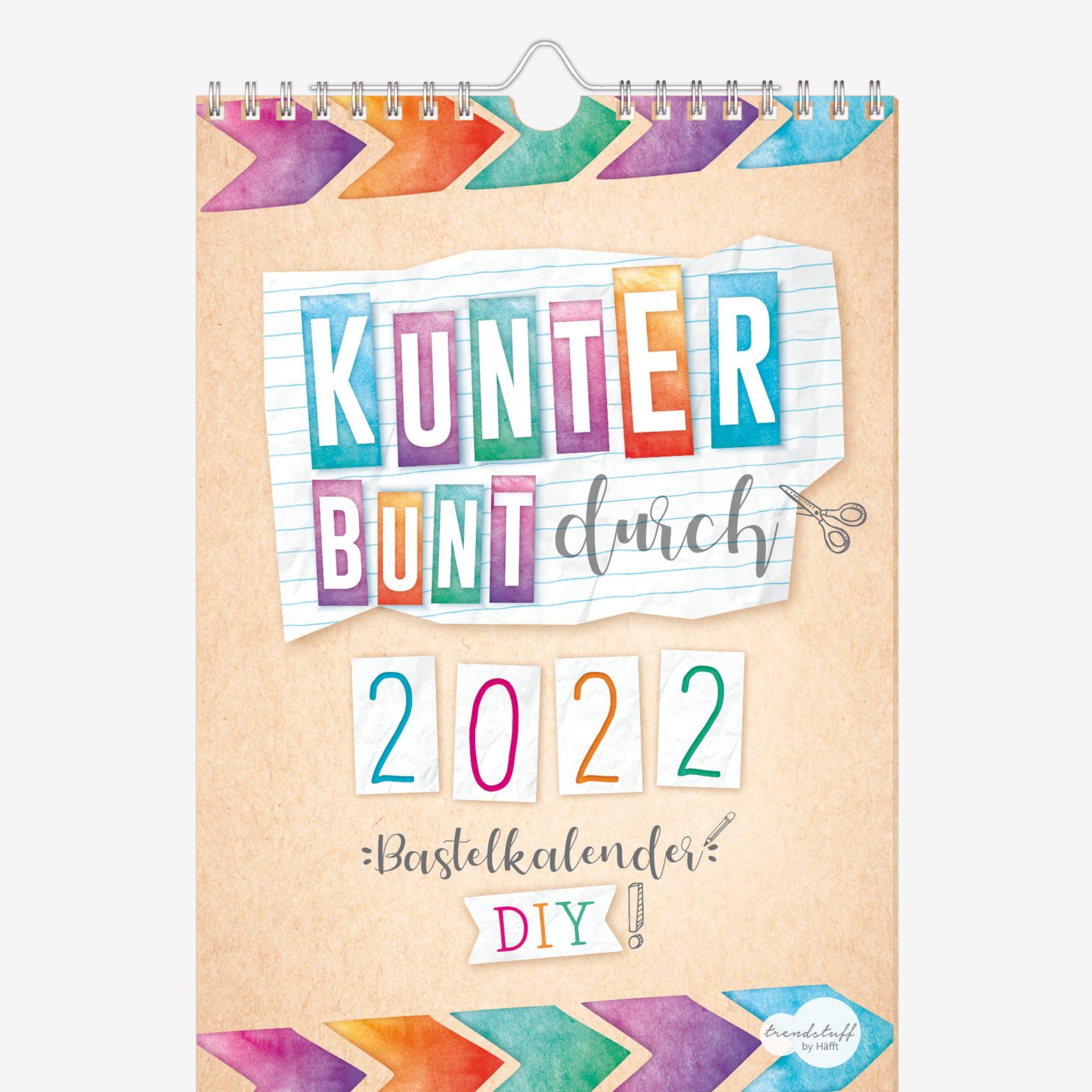 A5 Bastelkalender Trendstuff by Häfft