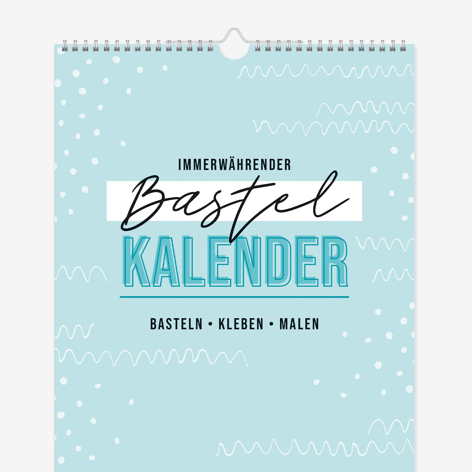 A4 Immerwährender Bastelkalender Trendstuff by Häfft