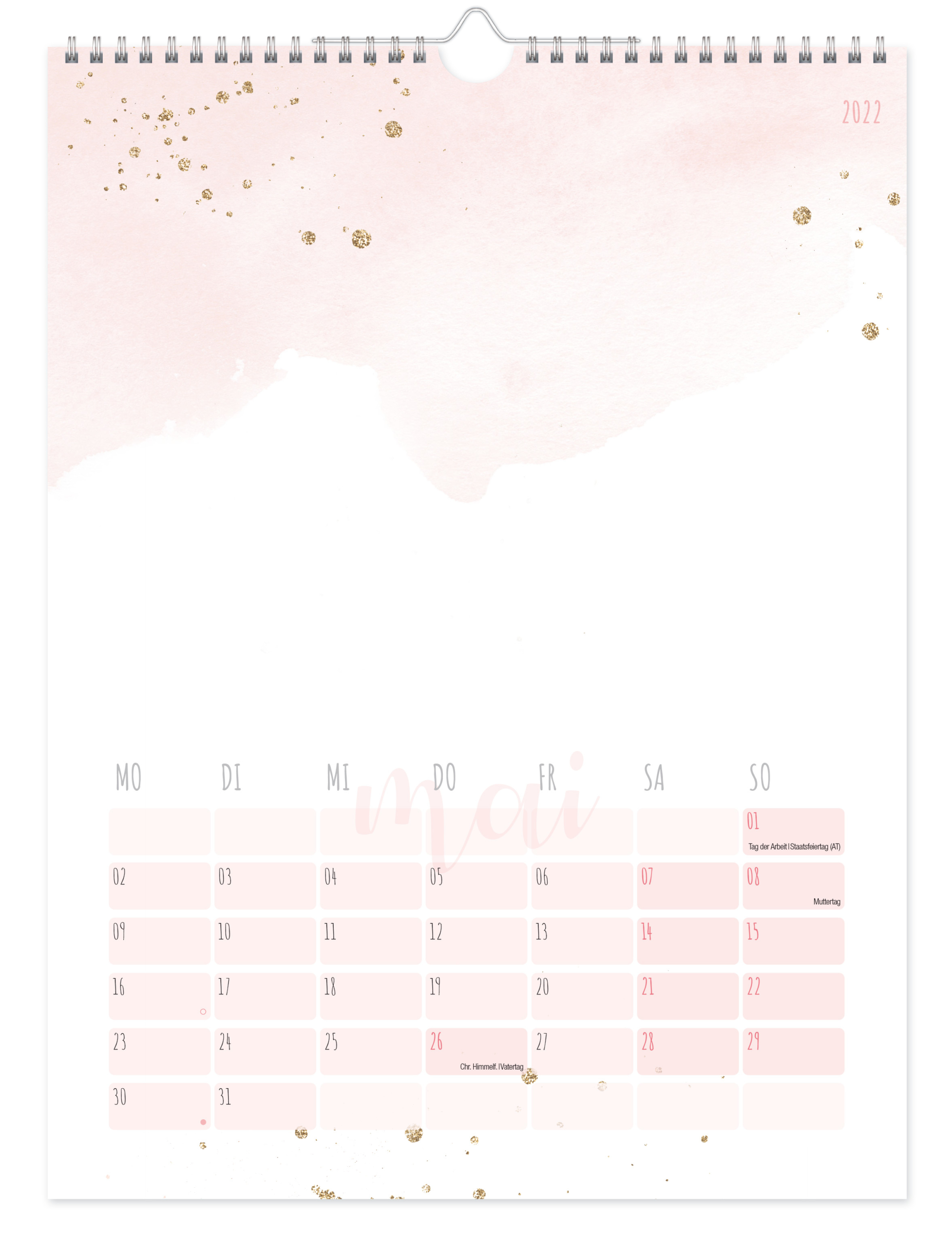 Bastelkalender A4 2022 - Blush Inhaltsseite 1
