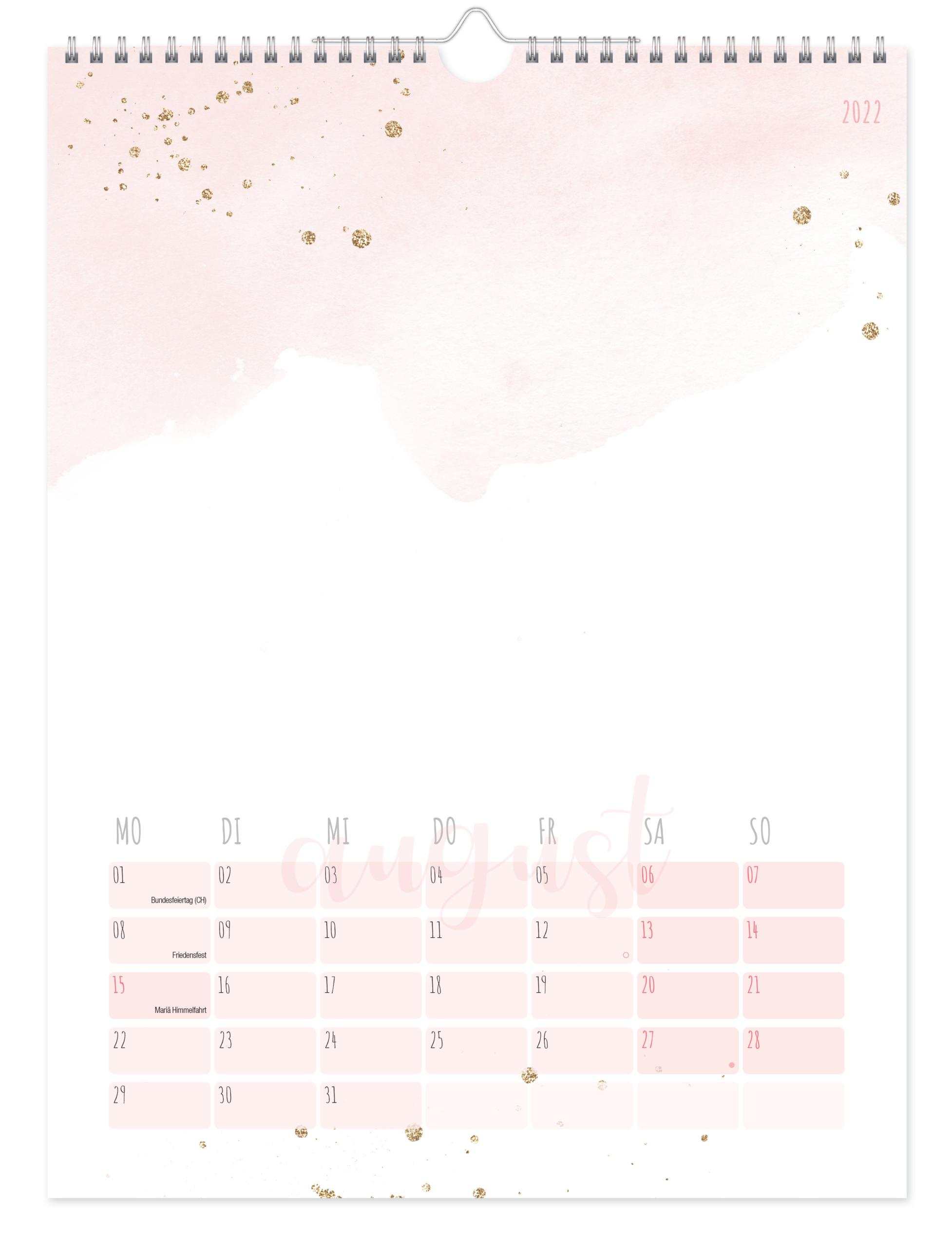 Bastelkalender A4 2022 - Blush Inhaltsseite 2